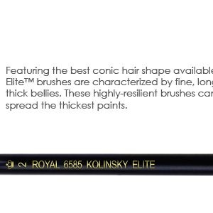 Royal Kolinsky Elite Short Handle Brushes