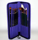 Tuscany Deluxe Brush Case (L/H)-Purple
